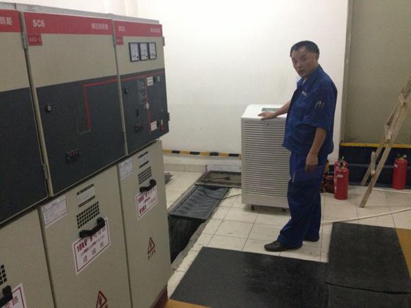 武汉恒大房地产批量产品工业除湿机放在配电房里